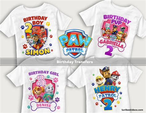 Desighns For Paw Patrol Shirts Pictures To Pin On Pinterest Thepinsta Paw Patrol Birthday Shirt Template
