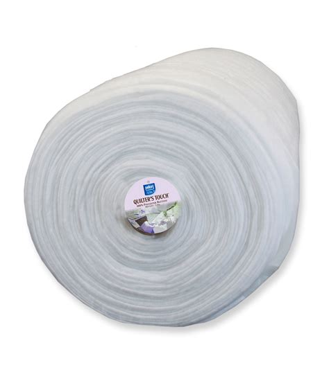 Polyester Quilt Batting By The Roll pellon 174 quilter s touch 174 mid loft polyester batting 96 quot x 25yd grab n go roll jo