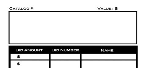 Silent Auction Bid Sheets Event Software Or Diy Excel Auction Template