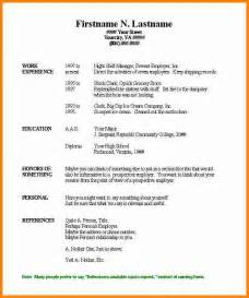 Resume Format Template Free by 3 Free Printable Resume Templates Microsoft Word Budget