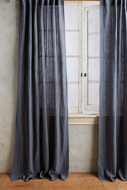 Striped Linen Curtains Tende Di Lino Lino A Righe And Biancheria On