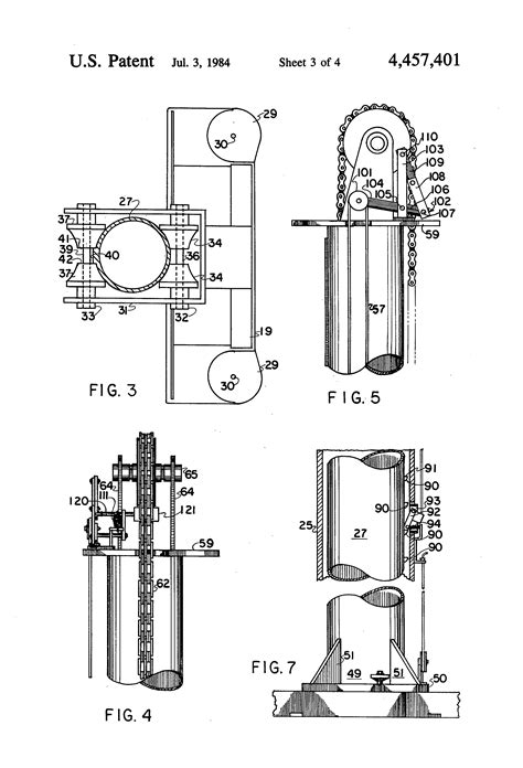 patent us4457401 above the floor hydraulic lift
