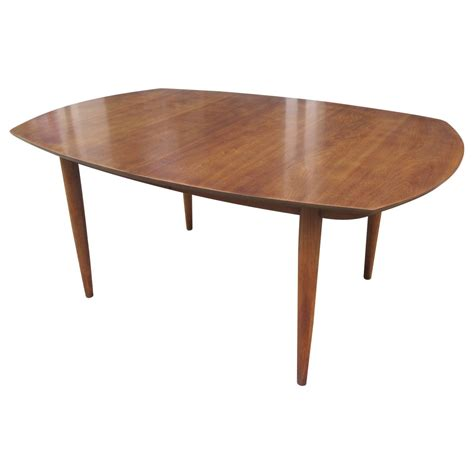 American Dining Table American Walnut Boat Shaped Dining Table At 1stdibs