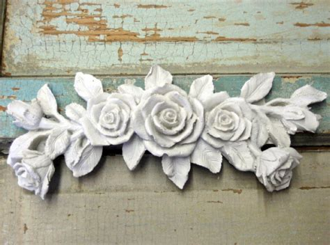 shabby chic furniture appliques rose bouquet do it yourself