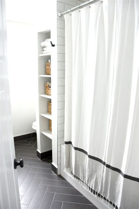 shower curtain alternative easy diy floating shelves the sweetest digs