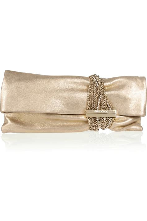 Jimmy Choo Metallic Clutch by Jimmy Choo Chandra Chainembellished Metallic