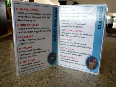 sandals room service menu drink menu from sandals negril picture of sandals south