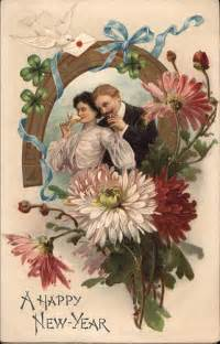 vintage with chagne new years postcard image the doodle place