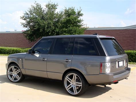 silver range rover black rims range rover supercharged on 23 quot modulare b11 in silver