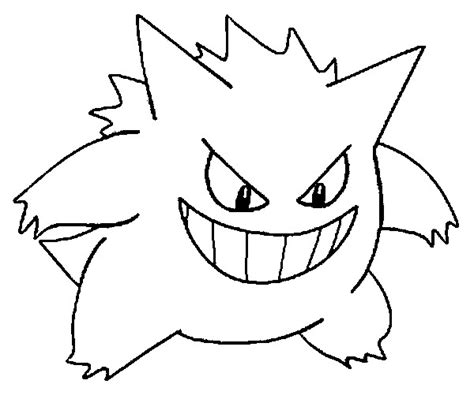 Pokemon Coloring Pages Gengar | free coloring pages of pokemon haunter