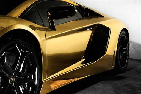 Gold Plated Lamborghini Gold Plated Lamborghini Aventador Sweet Rides Cars