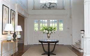 entrance foyer tables brass and glass console table transitional entrance