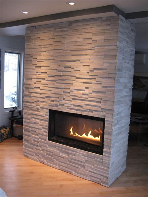 Four Sided Fireplace by Four Sided Panel Veneer Fireplace