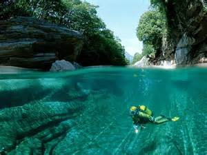 clearest water in the world crystal clear waters of verzasca river swiss alps i
