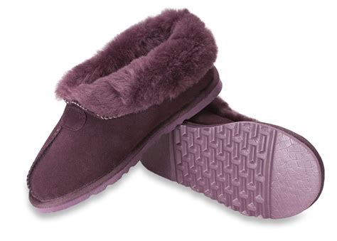 slippers with rubber sole nordvek womens genuine sheepskin slippers boots