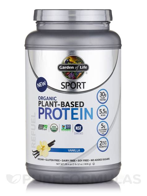 Garden Of Plant Based Protein Sport Organic Plant Based Protein Vanilla 28 4 Oz 1 Lb