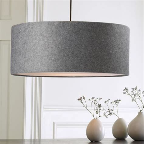 Dining Room Drum Pendant Lighting Grey Felt Drum Pendent For The Home Drums Drum Pendant Lights And Dining Room
