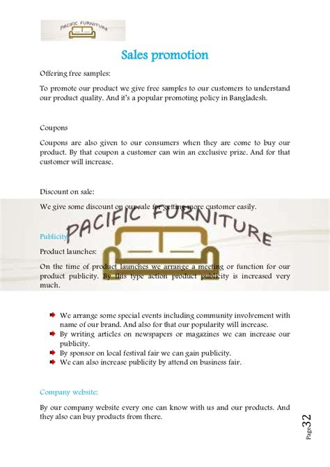 Introduction Letter Furniture Company Business Plan Sle On Furniture