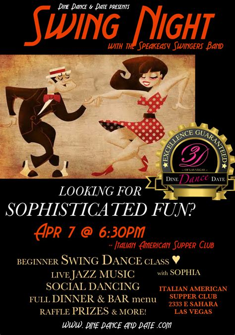 swing night events and pics archives dine dance date