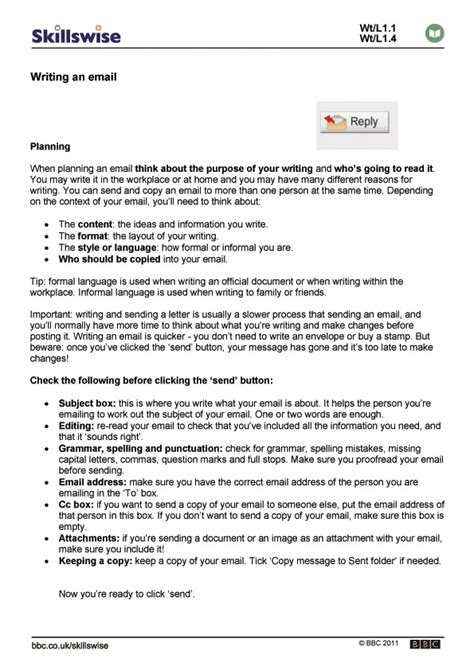 Email And Business Letter Writing Skills writing an email