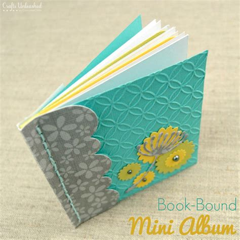 How To Make A Small Booklet Out Of Paper - mini album tutorial step by step crafts unleashed