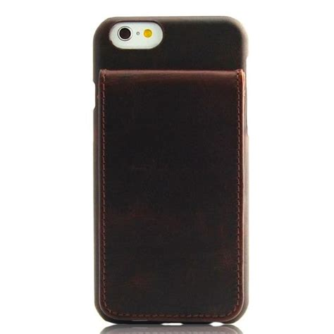 I Phone 6 6s Slot Kartu Brown iphone 6 6s brown classic genuine leather wallet