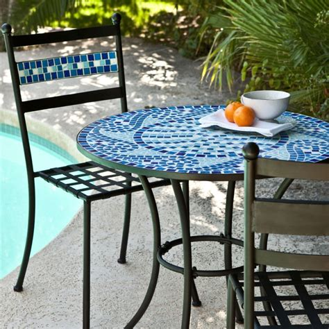 Mosaic Patio Table Top Trends In Backyard Design