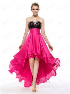 Sweetheart high low length sequins prom dress designer dresses