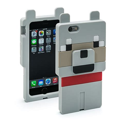 Living Room Y2190 Iphone 6 6s minecraft wolf character thinkgeek