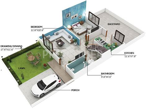 how big is 800 sq ft 800 sq ft house plans 3d architecture casita guardian