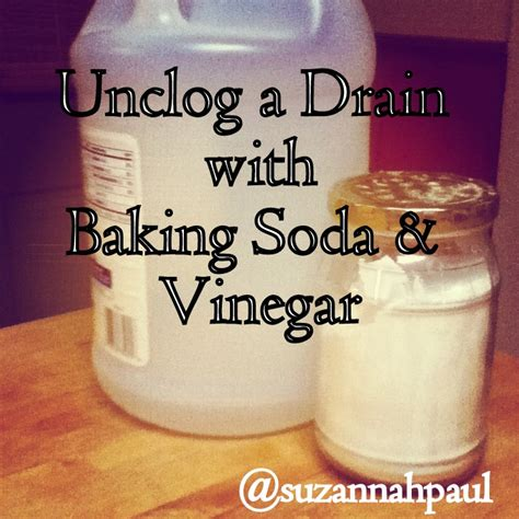 how to unclog a bathtub with baking soda suzannah paul the smitten word how to unclog a drain