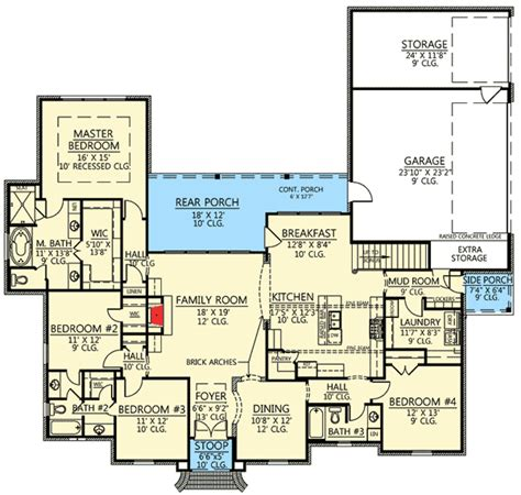 4 bed acadian house plan with bonus room 56377sm