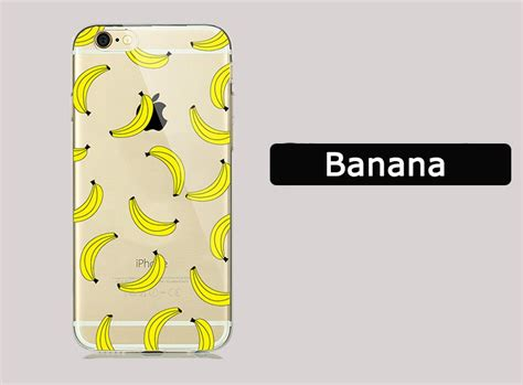 For Iphone 7 Soft Money In The Banana Stand Casing New Summer Fruit Banana Unicorn Transparent Silicone Soft