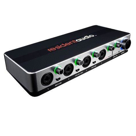 resident audio t4 thunderbolt audio interface at gear4music
