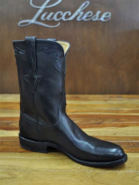 lucchese roper boots lucchese classic black buffalo calf roper boot l3556 rr