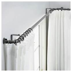 window design double bow curtain rods ikea for your curved windows