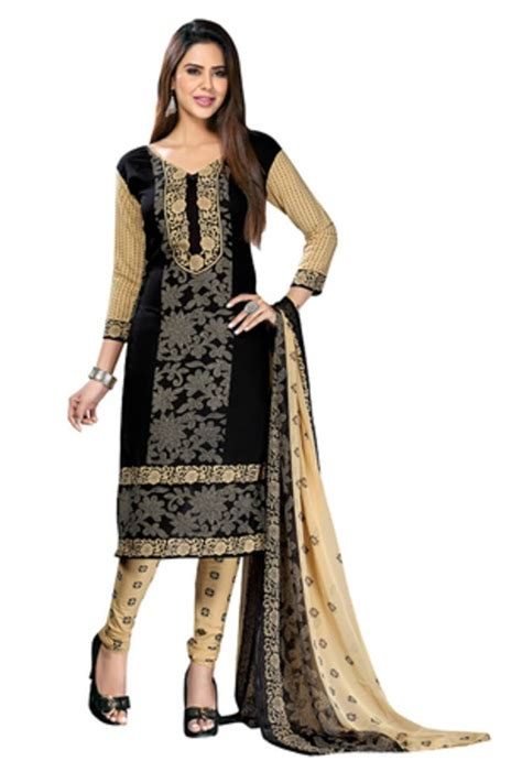 Embellish Bottom Studs Sling Bag buy black printed crepe unstitched salwar with dupatta
