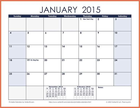 2015 printable monthly calendar template monthly calendar template 2015 www imgkid the