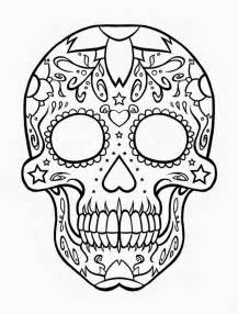 Dog Sugar Skull Coloring Pages sketch template