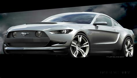 concept  reality  ford mustang sketches  led