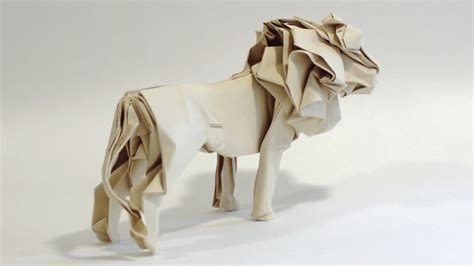 3d origami lion tutorial how to make an origami lion youtube