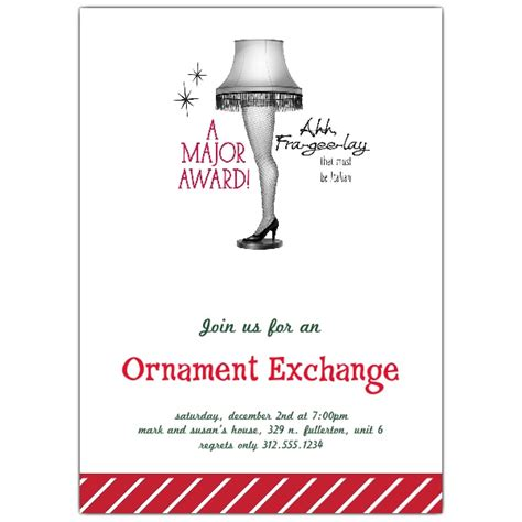 leg lamp holiday ornament exchange invitations paperstyle
