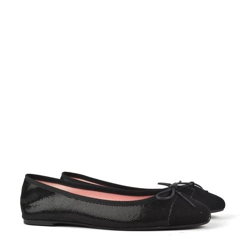 shiny flat shoes elia b shiny black suede ballet flat