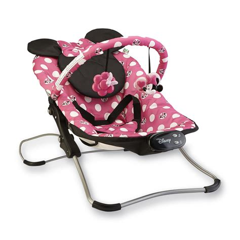 minnie mouse baby swing disney minnie mouse snug fit folding bouncer polka dots