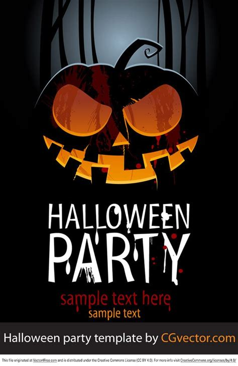 halloween images party halloween party template vector 365psd com