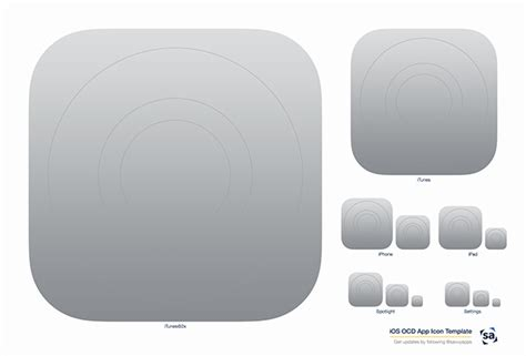 iphone app icon template ios ocd app icon template updated for ios 8 savvy apps