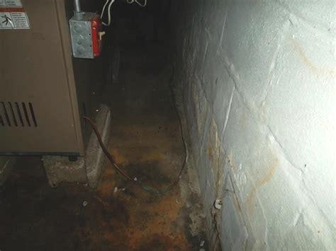 water seeping up through basement floor water seepage in east ct