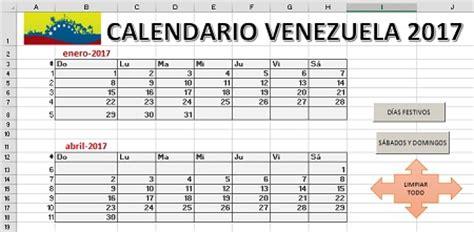 descargar calendario escolar 2016 2017 venezuela mppe calendario 2017 venezuela 171 excel avanzado
