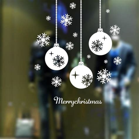 sizecm merry christmas tree snow door wall glass window sticker decoration decal quotes