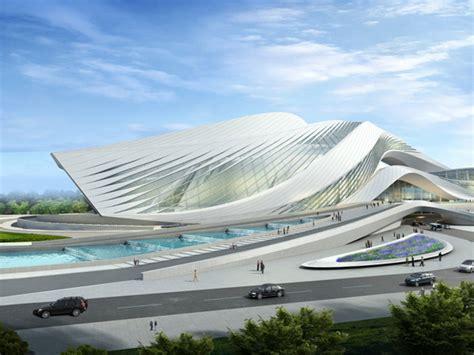modern architecture by zaha hadid architects new century city art centre in chengdu zaha hadid